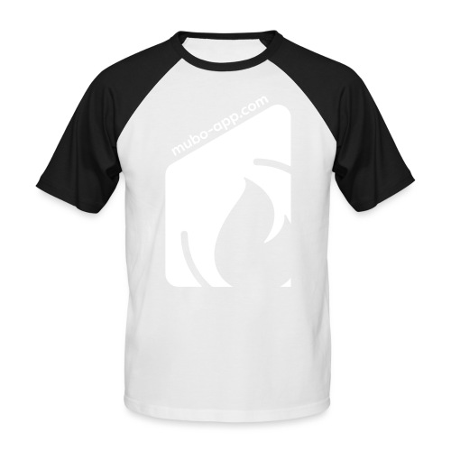 mubo box white - Men's Baseball T-Shirt