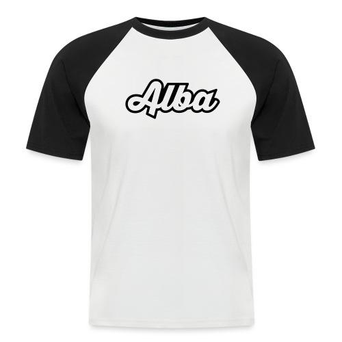 Alba, tekstilogo - Miesten lyhythihainen baseballpaita