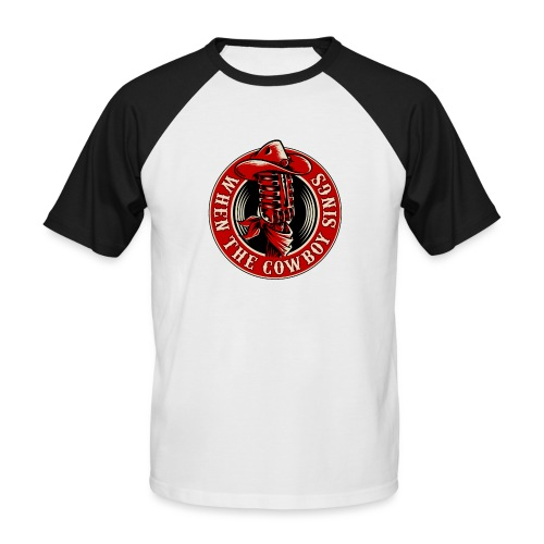 Logo when the cowboy sings - Camiseta béisbol manga corta hombre