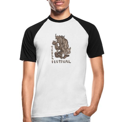 Trollfestival - Kortermet baseball skjorte for menn