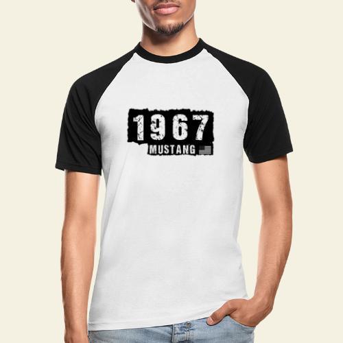 1967 - Kortærmet herre-baseballshirt