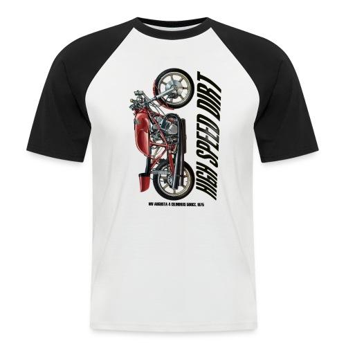 mv augusta 500cc copia - Camiseta béisbol manga corta hombre