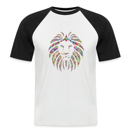Ausdruck des Löwen - Männer Baseball-T-Shirt