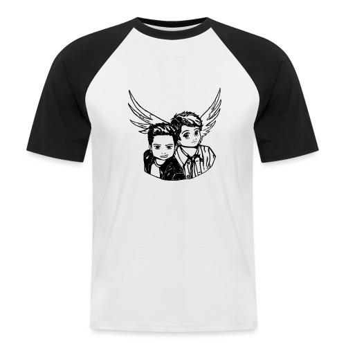 Destiel i sort/hvid - Kortærmet herre-baseballshirt