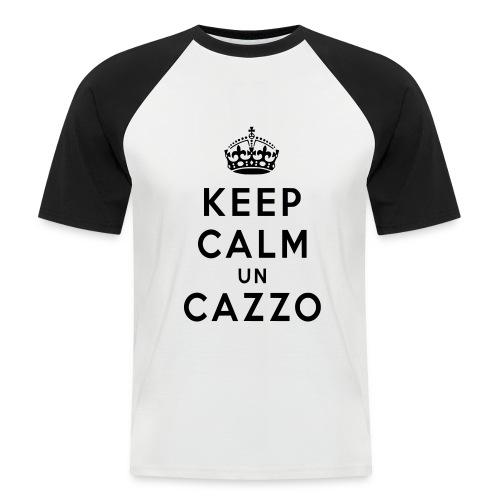 Keep Calm un Cazzo - Maglia da baseball a manica corta da uomo