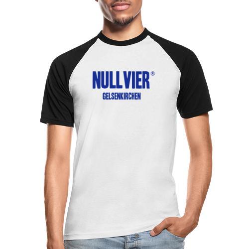 NULLVIER BLUE - Männer Baseball-T-Shirt
