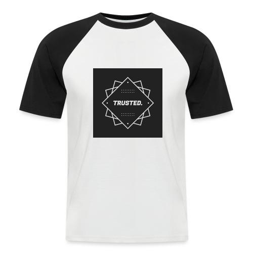 Trusted Logo - Männer Baseball-T-Shirt