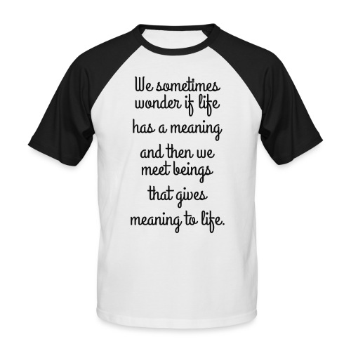 Phrase d'amour en anglais - T-shirt baseball manches courtes Homme