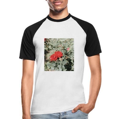 Red rose - Kortærmet herre-baseballshirt