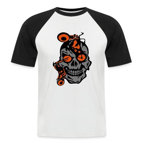 tete mort moto motrocycle oeil skull - T-shirt baseball manches courtes Homme