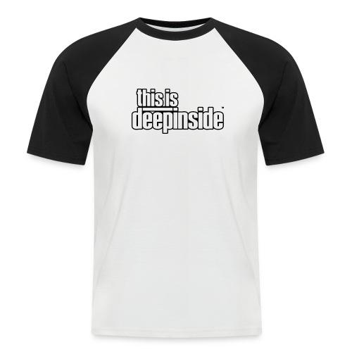This is DEEPINSIDE logo black - Men's Baseball T-Shirt