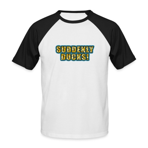 Duck Filled Text - Men's Baseball T-Shirt