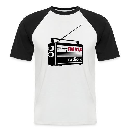 Radio 3 farbig mit radio x - Männer Baseball-T-Shirt