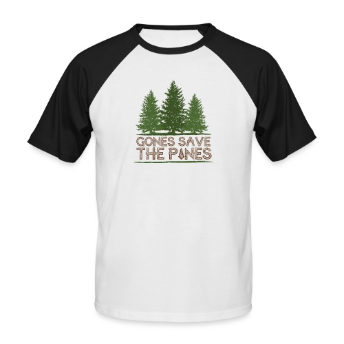 Gones save the pines - T-shirt baseball manches courtes Homme
