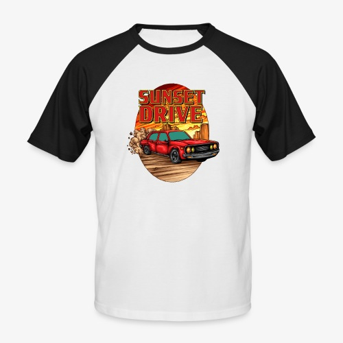 Sunset Drive - Männer Baseball-T-Shirt