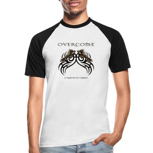 OVERCOME Shirt hinten hell - Männer Baseball-T-Shirt