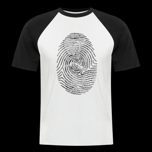 Tintenfisch Fingerabdruck schwarz - Männer Baseball-T-Shirt