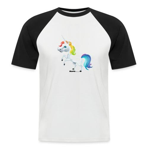 Regenboog eenhoorn - Mannen baseballshirt korte mouw