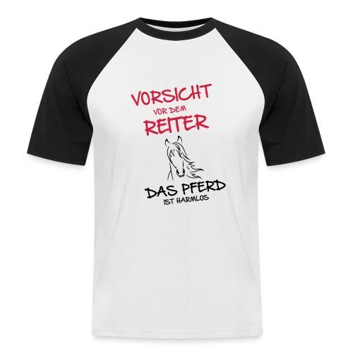 Vorschau: Vorsicht vor dem Reiter - Männer Baseball-T-Shirt
