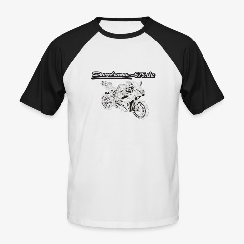 Daytona Moped Grau Kopie png - Männer Baseball-T-Shirt