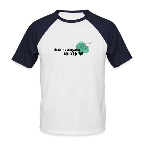 test - T-shirt baseball manches courtes Homme