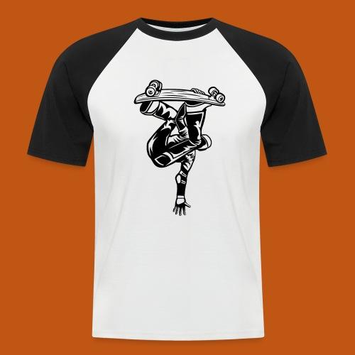 Skater / Skateboarder 03_schwarz - Männer Baseball-T-Shirt