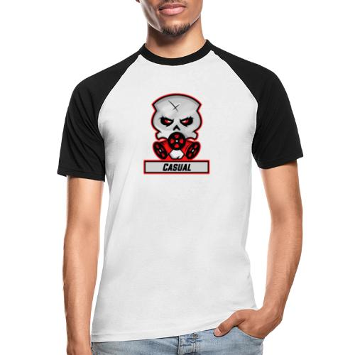 Casual-Gaming-Logo - Männer Baseball-T-Shirt