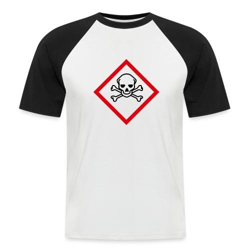 fareymbolakuttgiftigtransp - Kortermet baseball skjorte for menn
