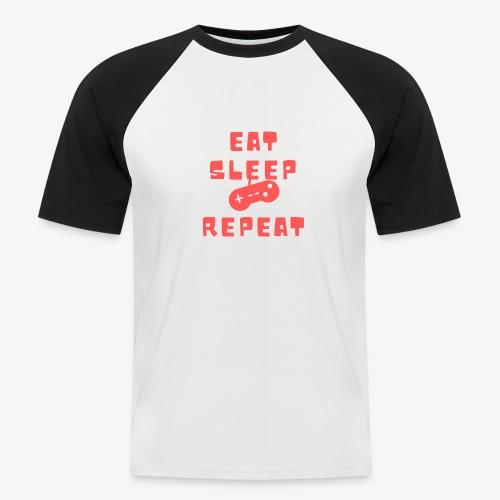 Eat Sleep Game Repeat - Men's Baseball T-Shirt