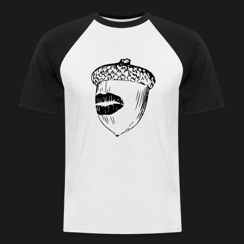 Kuss auf die Eichel [sw] - Männer Baseball-T-Shirt