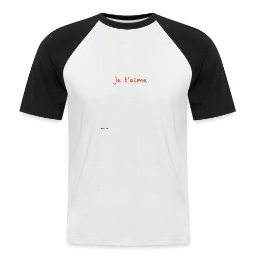 je suis trop con je t'aime - megaphone - T-shirt baseball manches courtes Homme