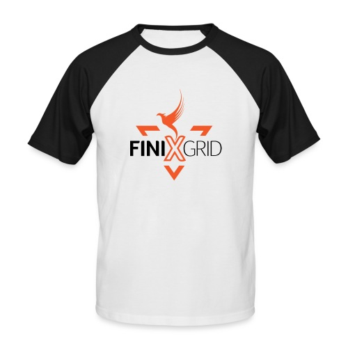 FinixGrid Orange - Men's Baseball T-Shirt