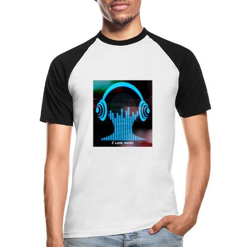 I love music - Camiseta béisbol manga corta hombre