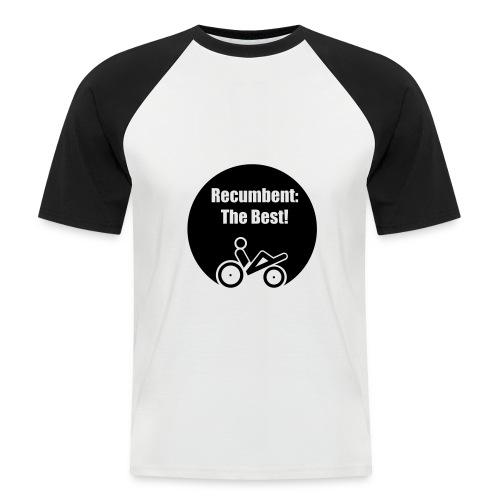 logo recumbent the best - Männer Baseball-T-Shirt