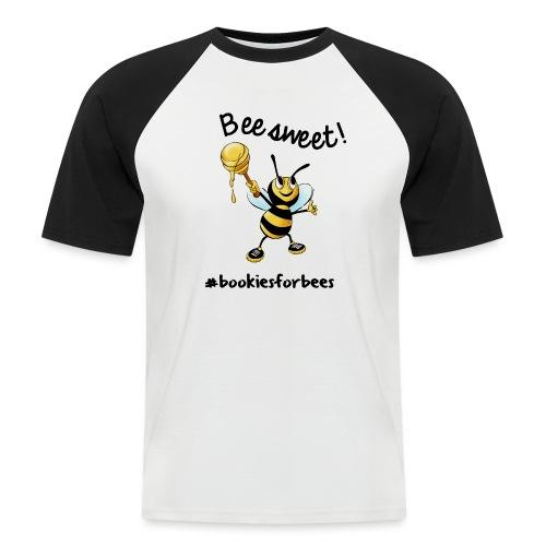 Bees7-1 Bienen sind süß   save the bees - Men's Baseball T-Shirt