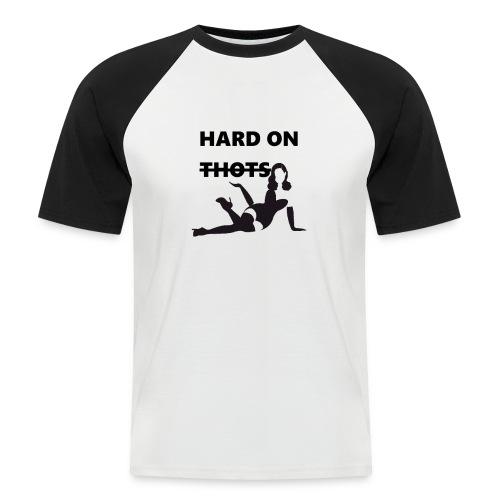 Hard on thots (censored) - Mannen baseballshirt korte mouw