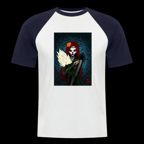 Death and lillies - Men's Baseball T-Shirt