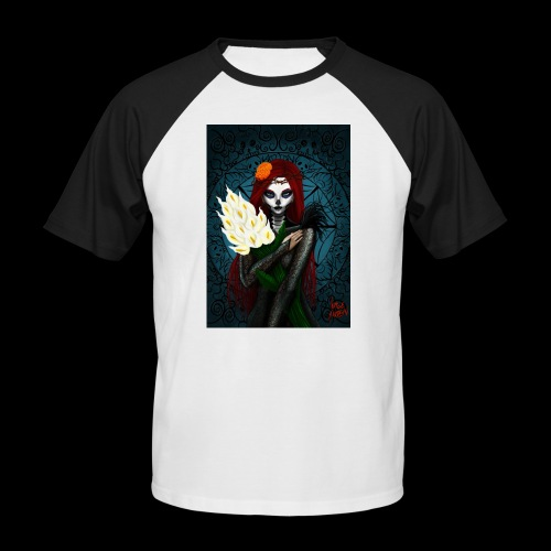 Death and lillies - Men's Baseball T-Shirt