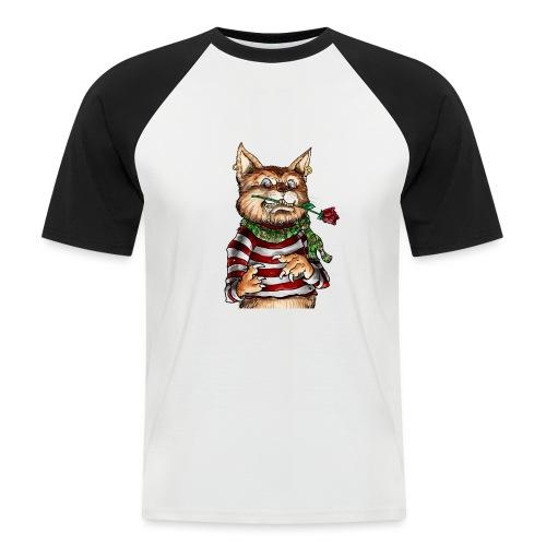 T-shirt - Crazy Cat - T-shirt baseball manches courtes Homme