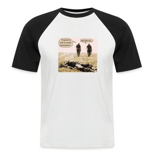 L'humour m'a tuer - T-shirt baseball manches courtes Homme