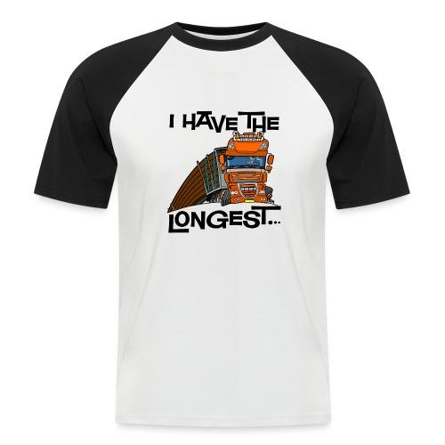 0793 D Truck I have the longest loads (FRONT+BACK) - Mannen baseballshirt korte mouw