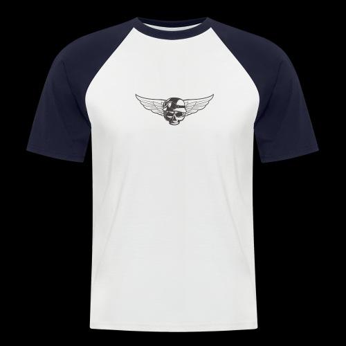 Biker skull - Men's Baseball T-Shirt