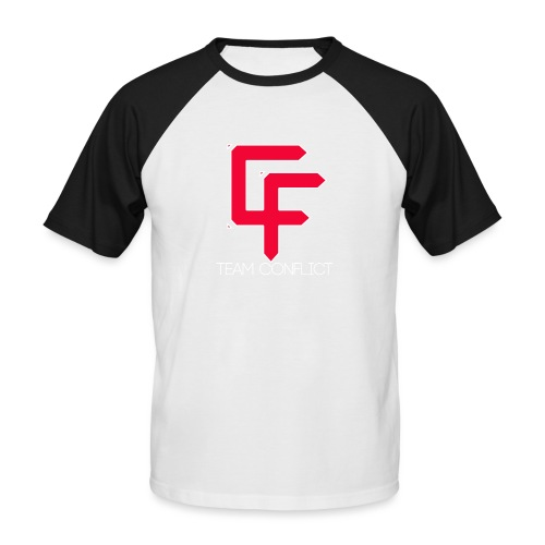 CF Final White Border t shirts with text thin whit - Men's Baseball T-Shirt