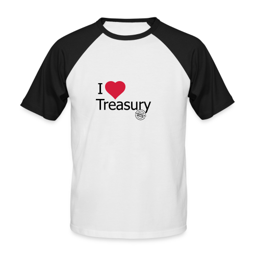 I LOVE TREASURY - Men's Baseball T-Shirt