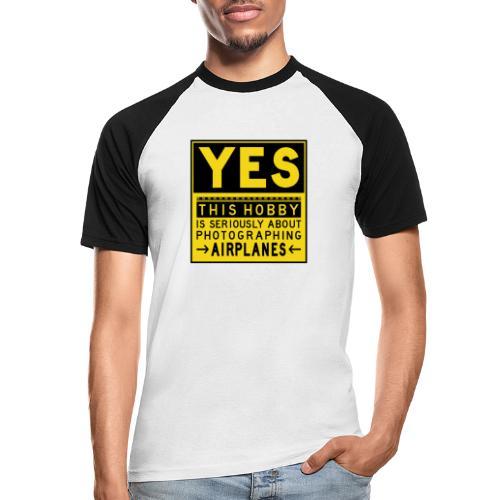 O co chodzi w planowaniu - znak fartucha - Koszulka bejsbolowa męska