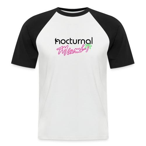 Nocturnal Miami Palm Tree black - Men's Baseball T-Shirt
