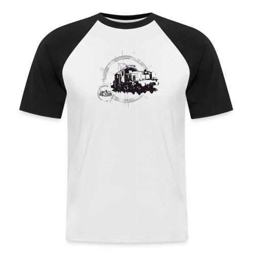 Circle Krokodil - Männer Baseball-T-Shirt