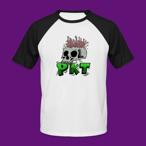 Skull and wormes - T-shirt baseball manches courtes Homme