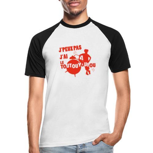 JPEUXPAS ROUGE - T-shirt baseball manches courtes Homme