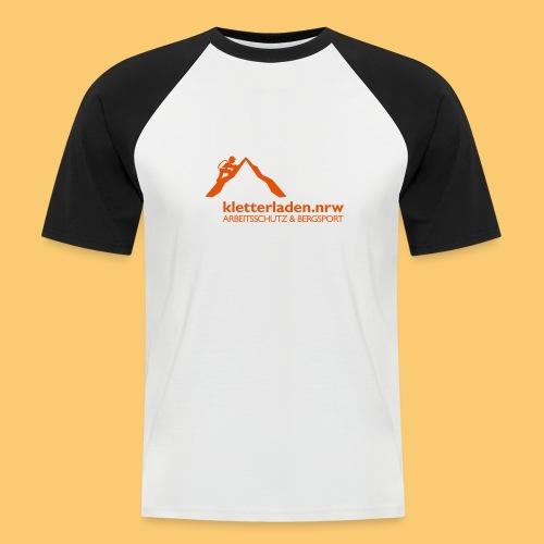 Logo mit Subline_kletterl - Männer Baseball-T-Shirt